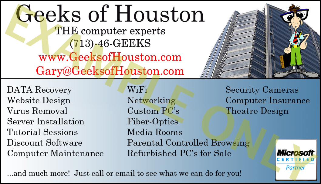 Lovely pc repair business cards photos business card ideas pc repair business card free psd business card templates call 713 46 geeks houston computer repair data recoveryvirus reheart Image collections